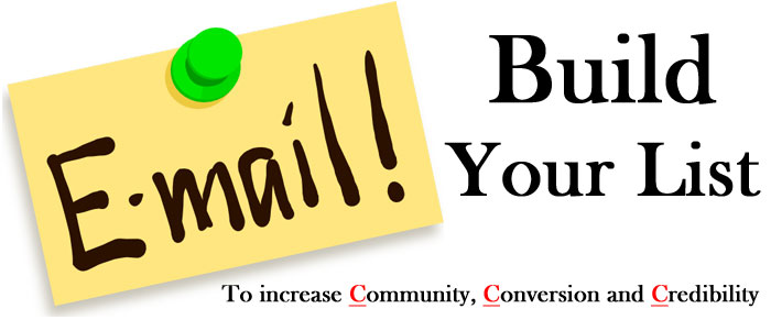 Build Your Email List: Make It A Priority!